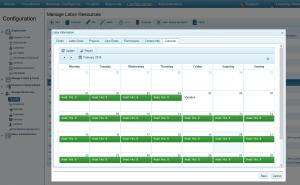Labor Calendar Available Hours
