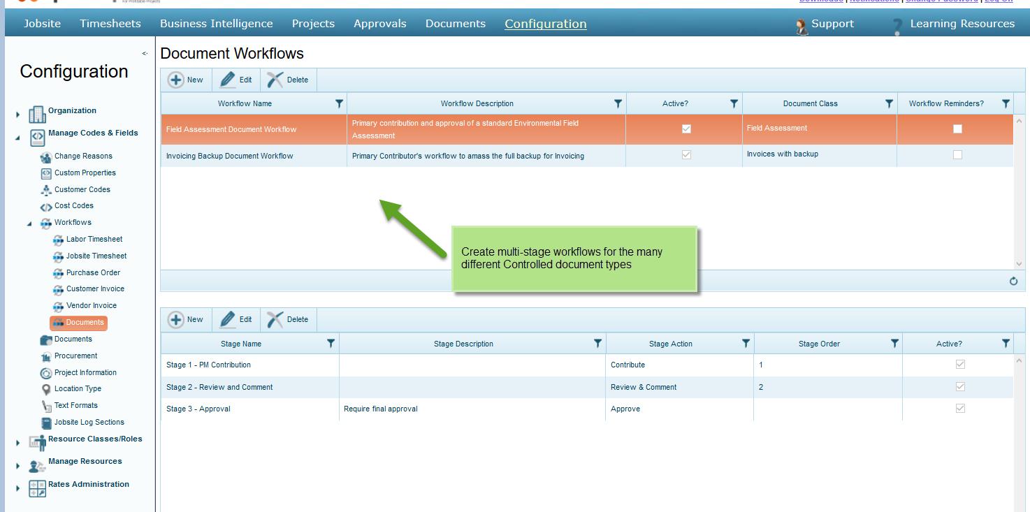 Configure Document Workflows