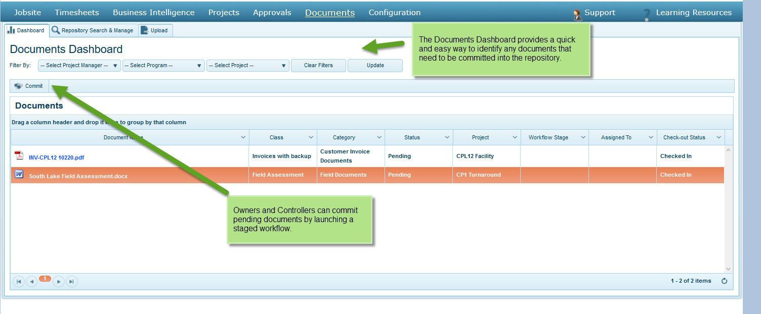 Document Management Dashboard