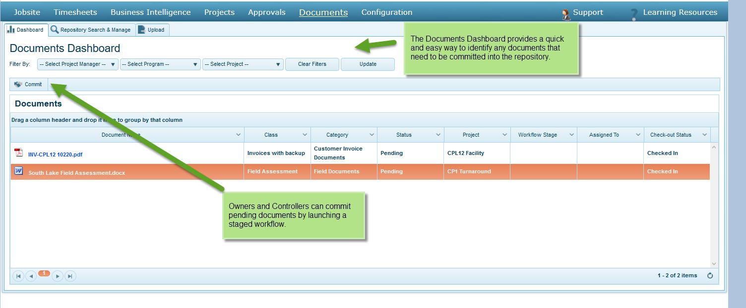 Document Management Dashboard