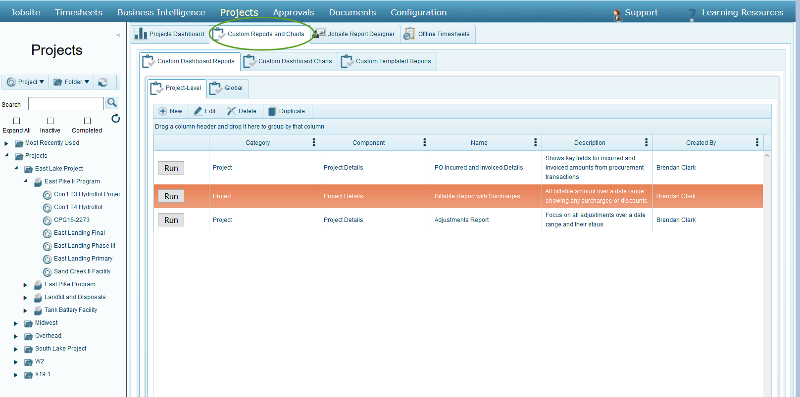 Configure Custom Charts