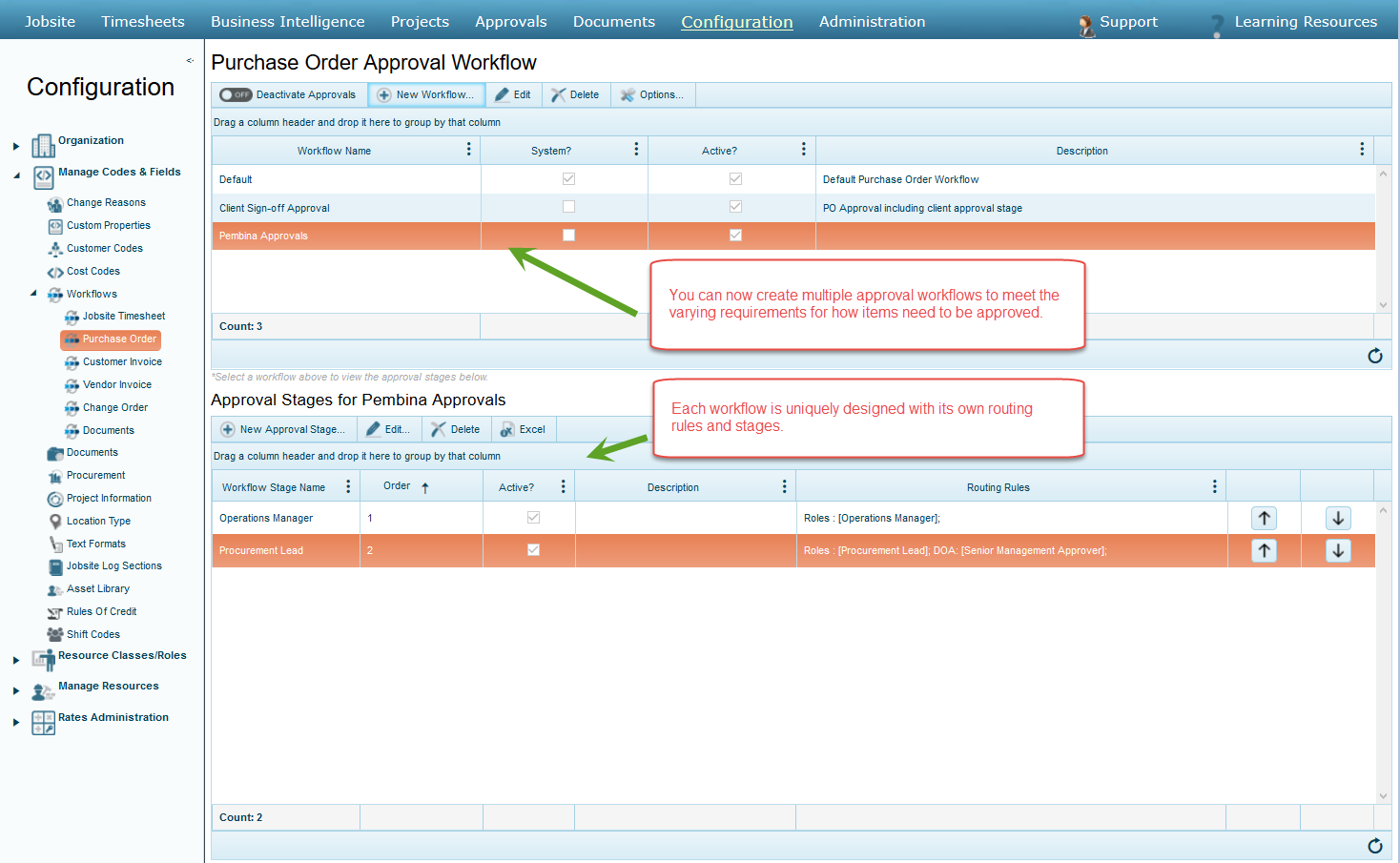 Multiple approval workflows